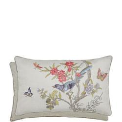 Chinese Bluebird Cushion Multi