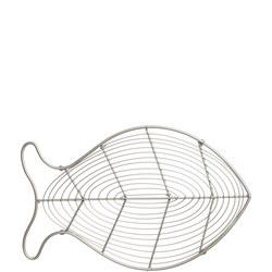 Ocean Fish Trivet In Satin Grey Wireware