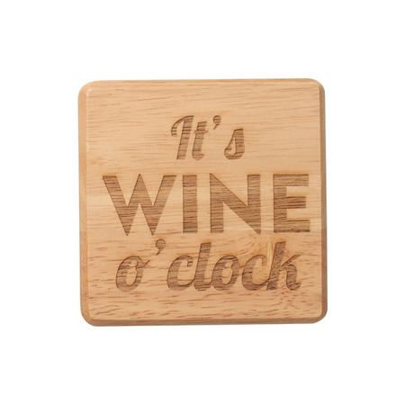 It's Wine O'Clock Coaster