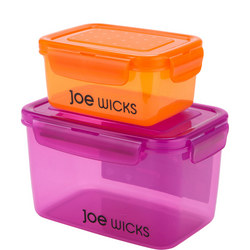 Joe Wicks 2 Piece Rectangular Container Set
