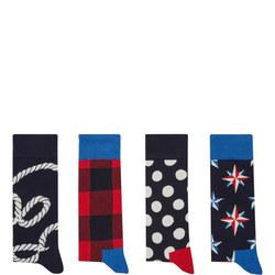 Nautical Socks Gift Box