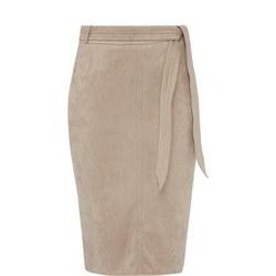 Tie-Belt Pencil Skirt