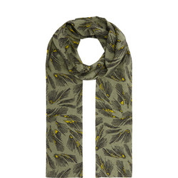 Along Feather Print Scarf