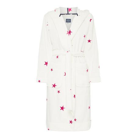 Star Print Fleece Robe