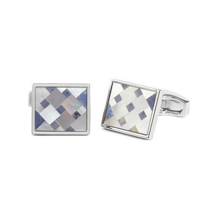 Cubist Sodalite Mother Of Pearl Cufflinks