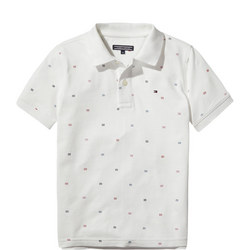 Allover Flag Print Polo