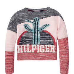 Cactus Boat Neck Sweater