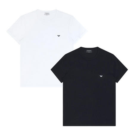 Two-Pack Crew Neck Logo T-Shirt