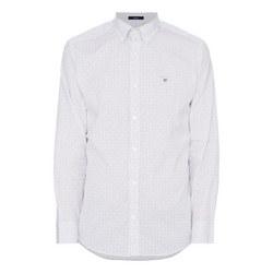 Micro Snow Drop Print Shirt
