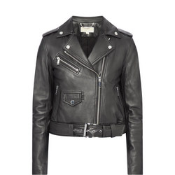 Leather Moto Biker Jacket