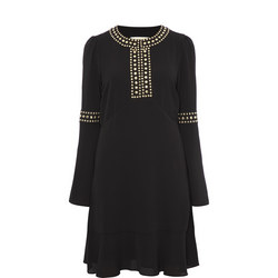 Studded Flounce Dress