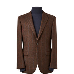 Shetland Herringbone Windowpane Sports Jacket