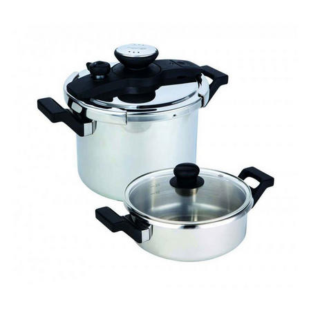 4 Piece Stainless Steel Pressure Cooker Set