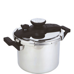 6 Litre Twist 'n' Lock Stainless Steel Pressure Cooker