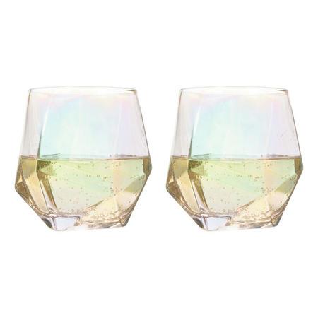Bar Bespoke Diamond Glasses Lustre Finish 2pk