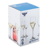 Majestic Flute Glasses Set Of Four 21cl