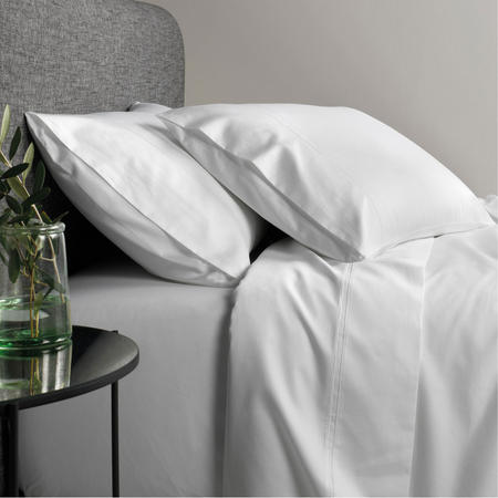 600tc Egyptian Blend Fitted Sheet Set Snow