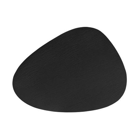 Recycled Black Leather Pebble Placemat