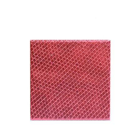 Red Metallic Faux Leather Coasters