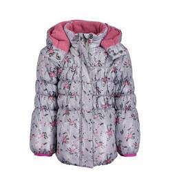 Flower Print Puffa Jacket