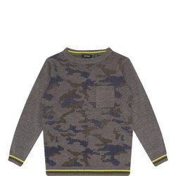 Camouflage Stripe Pullover