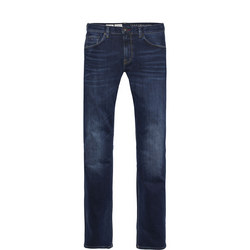 Straight Fit Faded Denton Jeans