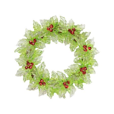 Acrylic Holly Wreath Decoration