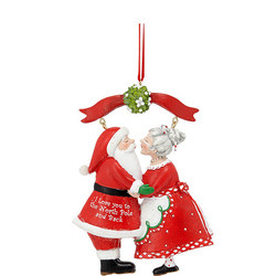 Santa And Mrs Claus Tree Decoration