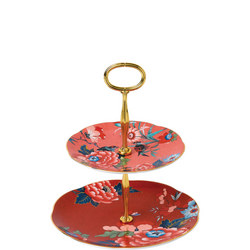 Paeonia Blush Two Tier Cake Stand