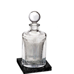 Aras Round Decanter & Marble Coaster