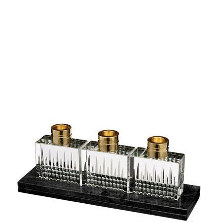 Lismore Diamond Candlestick Set of 3