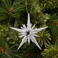 Pale Silver Five-Point Starburst Decoration