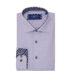 Geometric Trim Formal Shirt