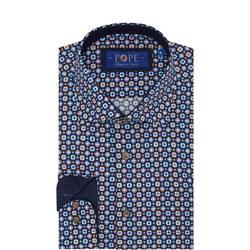 Circle Pattern Formal Shirt