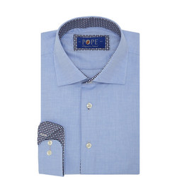 Pattern Trim Formal Shirt