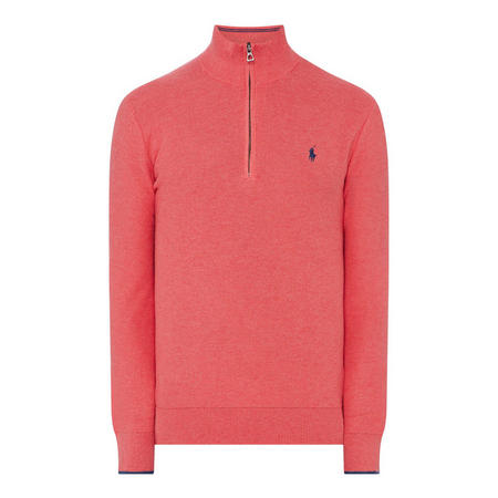 Pima Textured Half Zip Sweater