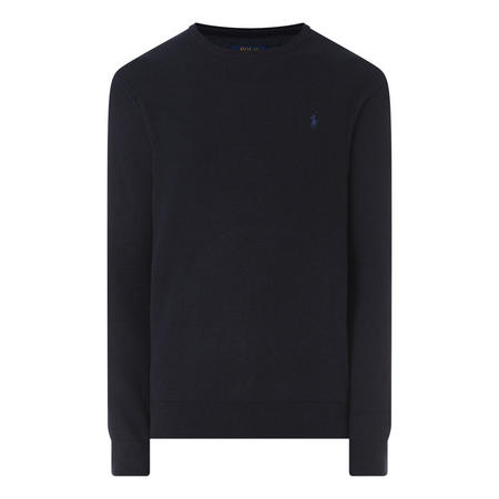 Pima Textured Crew Neck Sweater
