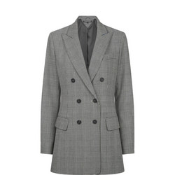 Double-Breasted Long Blazer