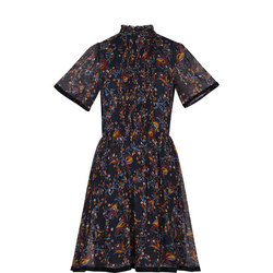 High Neck Ribbon Dress