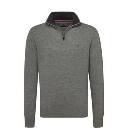 Lambswool Zip Mock Neck Sweater