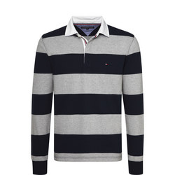 Iconic Block Stripe Rugby Polo Shirt