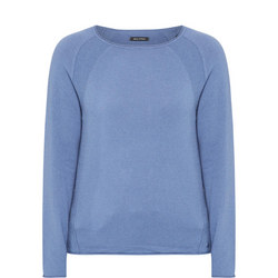 Wool Cashmere Round Neck Top