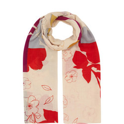 Hand Printed Floral Scarf