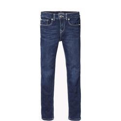 Girls Dark Wash Skinny Jeans