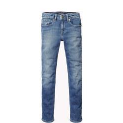 Girls Faded Skinny Jeans