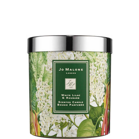 White Lilac & Rhubarb scented candle