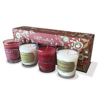 Red Candle Gift Set 4 Piece