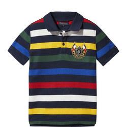 Stripe Crest Polo Shirt