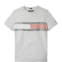 Flag Print Cotton T-Shirt