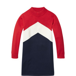Colour-Blocked Jumper Dress